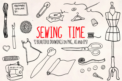Sewing Dressmaker Crafts Graphic Kit