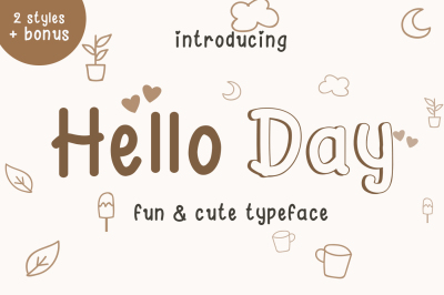 Hello Day - Fun and Cute Font