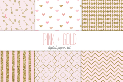 Pink and Gold backgrounds