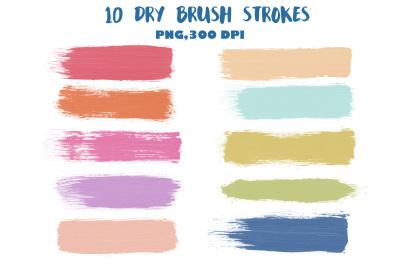 Dry brush strokes clip art
