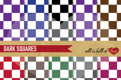 Checkered Digital Paper Pack Backgrounds