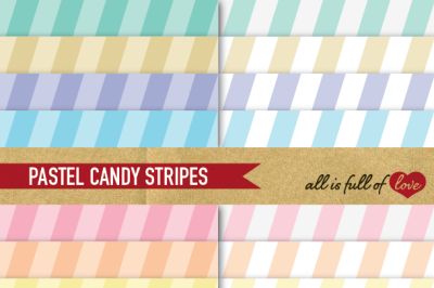 Striped Paper Pack Pastel Wedding backgrounds