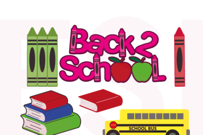 Back to School Designs Bundle - SVG, DXF, EPS, PNG - Cutting Files