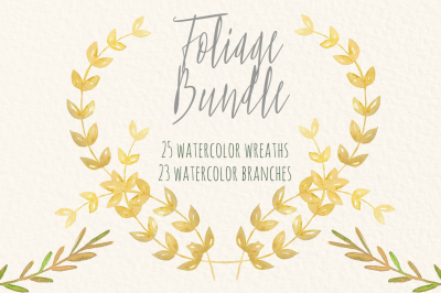 BUNDLE watercolor  wreaths and branches