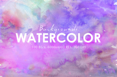 50% OFF 100 Watercolor Backgrounds 2