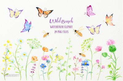 Watercolor Clip Art Wild Bunch