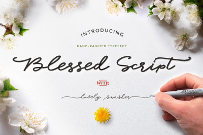 Blessed Script with a sweet BONUS