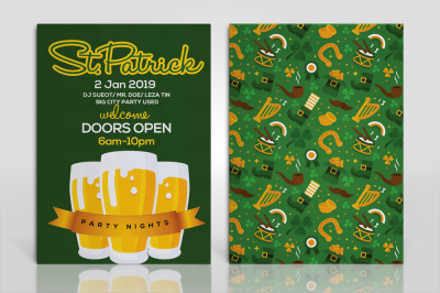 Double Sided St Patricks Invitation