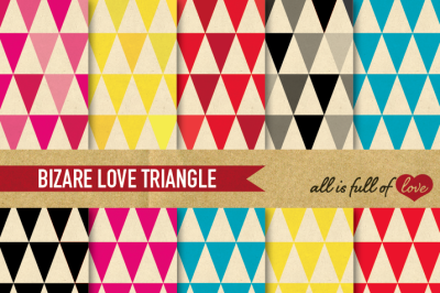 Triangular Paper Pack Retro backgrounds