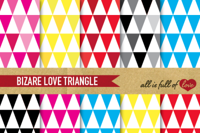 Triangles Paper Pack Rainbow backgrounds