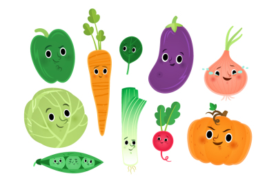 Cute veggies