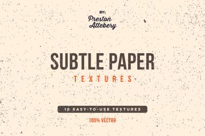 Subtle Paper Textures