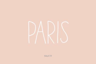 Paris Font Pack