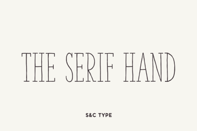 The Serif Hand Font Pack