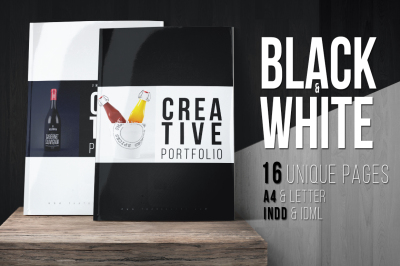 Portfolio Template (2 Colours B&W)