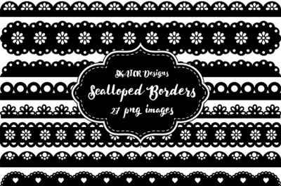 Black Scalloped Borders Punch Borders Scrapbooking
