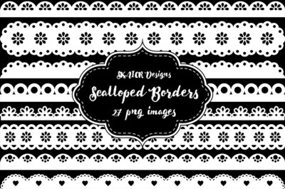 White Scalloped Borders Punch Borders Scrapbooking