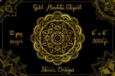Gold Foil Mandala Clipart