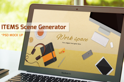 Work space items scene generator vol.2