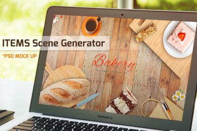 Bakery items scene generator