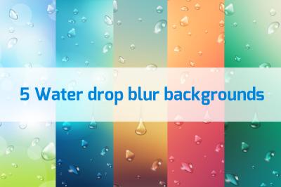 5 Water drop blur backgrounds Vol.2