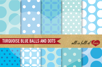 Pale Blue Backgrounds Balls and Dots First communion Digital Paper