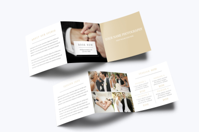 Photography Trifold Brochure Template