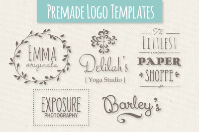 Cute Premade Logo Templates - Set 1