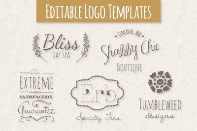 Cute Premade Logo Templates - Set 2