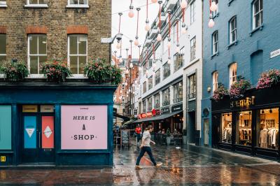 Commercial street in London