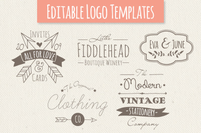 Cute Premade Logo Templates - Set 4