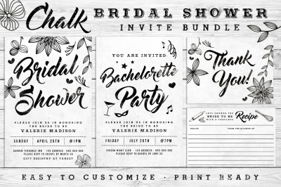 Massive Chalk Wedding Bundle 60% off