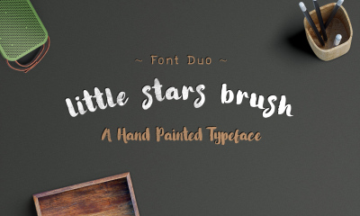 Little Stars Brush Font Duo