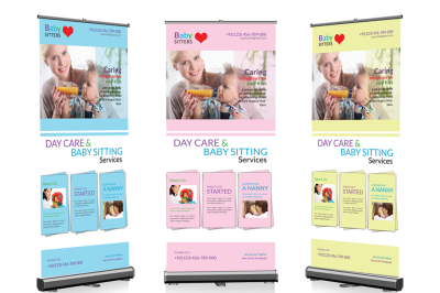 Day Care & Baby Sitter Roll up Banner