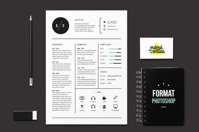 CV Cat - Resume template Photoshop