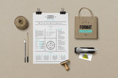 CV Burger - Resume template Photoshop
