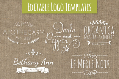 Cute Premade Logo Templates - Set 7