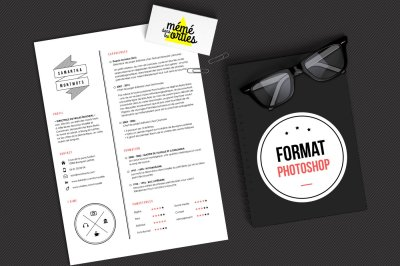 CV Sam - Resume template Photoshop