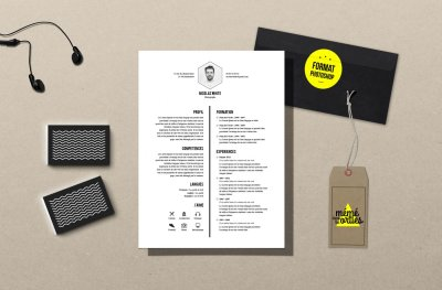 CV White - Resume template Photoshop