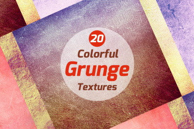 20 Colorful Grunge textures
