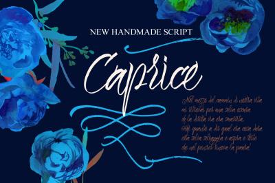 Caprice Script + Vector Flower Bonus
