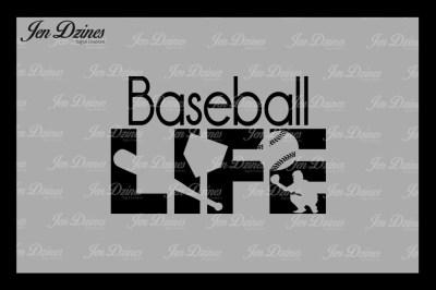 Baseball Life SVG DXF EPS PNG