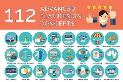 112 Advanced Flat design Concepts