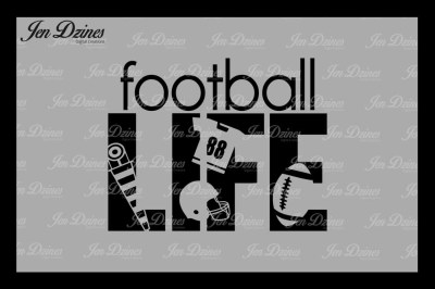 Football Life SVG DXF EPS PNG