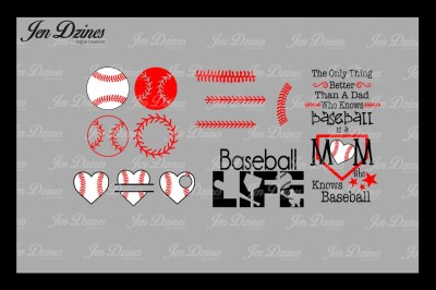 Ultimate Baseball Bundle SVG DXF EPS PNG