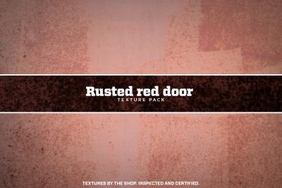 Rusted red door texture pack