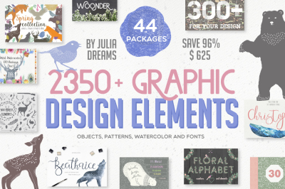 2350+ Graphic Design Elements