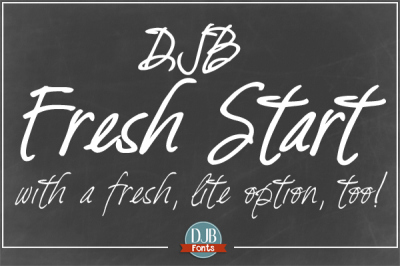 DJB Fresh Start Calligraprint Fonts