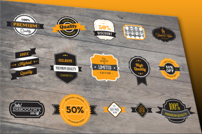 30 Vector Badges & Logo