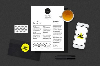 CV Emily - Resume template Photoshop
